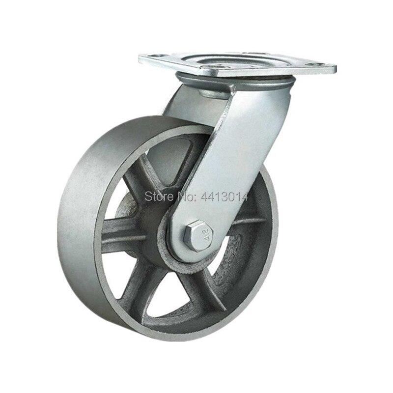 Ad alta Temperatura 6 Pollici 150 MILLIMETRI Heavy Duty Girevole cast ferro carrello ruota per Offensive Applicazioni