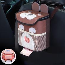 Creative Cartoon For Vehicle Garbage Tank Garbage Bin Car And Storage For Kid Toys Phone Bottle Items Garbage Bag Headrest Hook