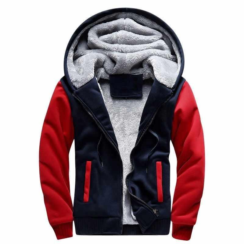 Moomphya/зимние теплые толстые флисовые мужские толстовки толстовка на молнии мужские пиджаки пальто мужские толстовки sudaderas para hombre