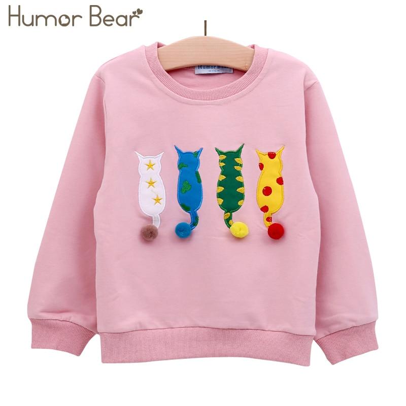 Humor Bear Kids Sweater Autumn Long-sleeve T-shirt  Boy Girl Children Clothes Cartoon Brand Child Coat Outwear Clothing 2-6Y