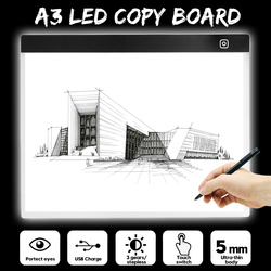 Portable A3 Digital Drawing Graphic Tablet LED Light Box Tracing Copy Board Painting Writing Table Three-level Stepless Dimming