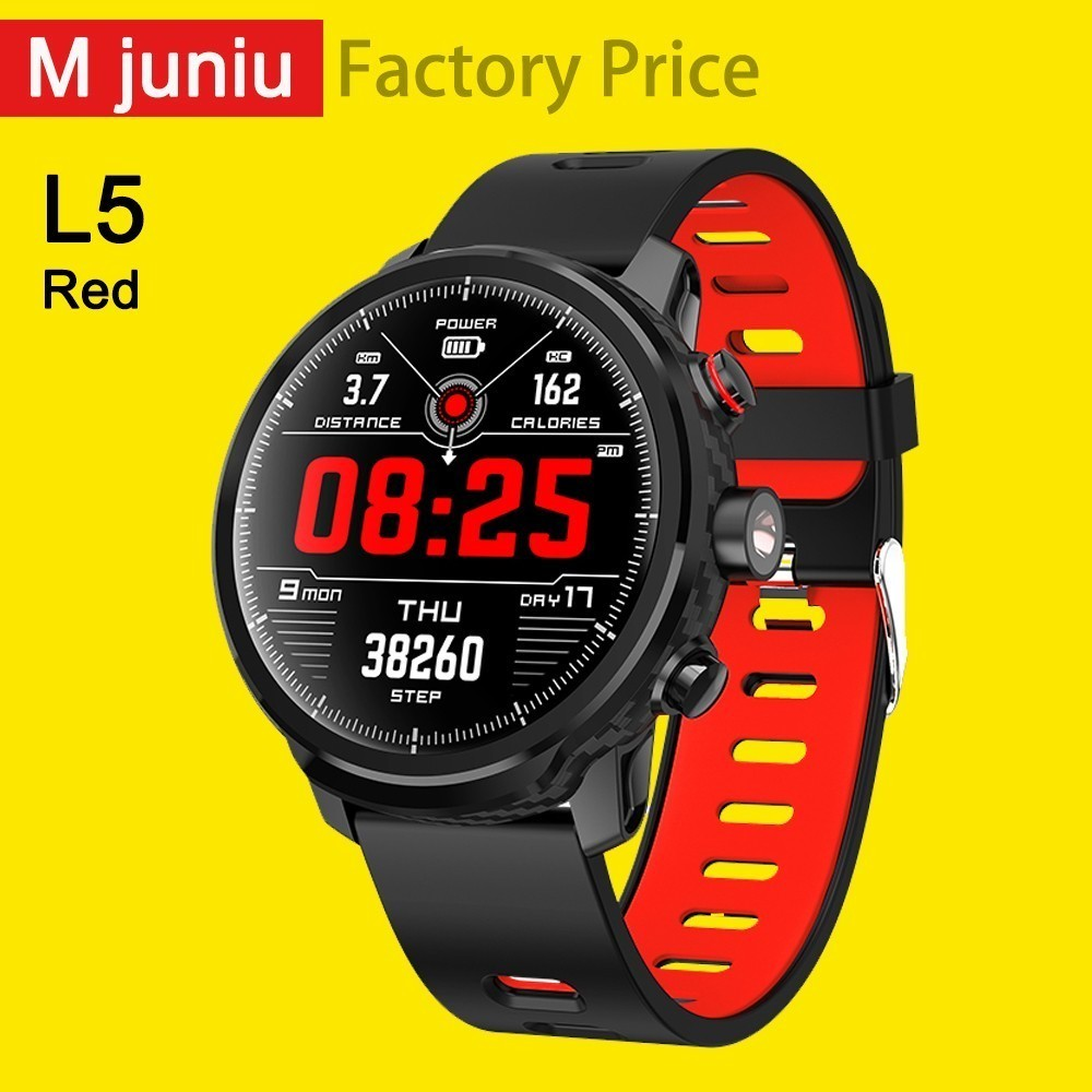 L5 Smart Watch Men Ip68 Waterproof Multiple Sports Mode Heart Rate Weather Forecast Bluetooth Smartwatch Standby 100 Days clock