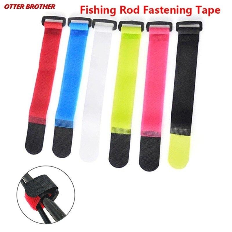 Fishing Rod Tool Self Adhesive Reusable Cable Tie 5pcs/lot 2*20cm Nylon Fastener Hook Loop Strap Cord Ties  Fastening Tape Tools