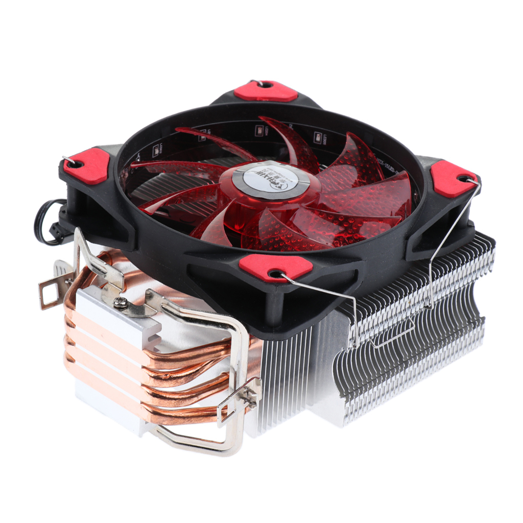 Aluminum CPU Cooler 12cm LED Cooling Fan Radiator Heatsink Pipes for Intel стоимость