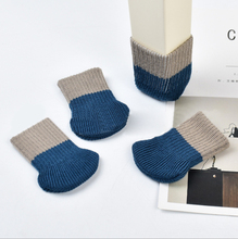 4Pcs/Set Table Chair Foot Leg Double  Knit Cover Protector Socks Sleeve Protect Floor Wear-resistant