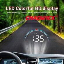 Voiture HUD tête haute affichage données de conduite sur le pare brise avant CHADWICK M8 informations de conduite instantanément vitesse, tr/min, température de leau