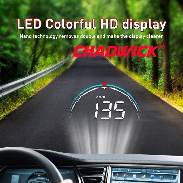 Wyświetlacz samochodowy HUD Head Up dane jazdy na przednia szyba CHADWICK M8 informacje o jeździe natychmiast prędkość, obroty, temperatura wody
