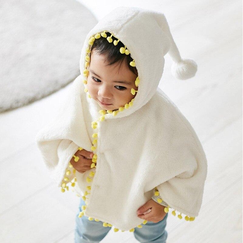 0-3y Kinder Kleinkind Baby Mädchen Warme Flanell Mantel Jacken Mäntel Herbst Winter Mode Bebe Mädchen Mit Kapuze Dicke Kleidung Jacke Mantel