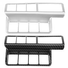 Автомобильный переключатель регулировки фар панель декоративная крышка Накладка для Mitsubishi Eclipse Cross 2018-2017 серебро/карбоновое волокно