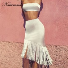 1fb83970a Vente en gros crop top white skirt set bodycon - Achetez des Lots à ...