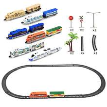 Children Electric Double Train Track Puzzle DIY Assembled Rail Car Toy Racil Tracks Car Toys Gift For Kids Toys Gift(China)
