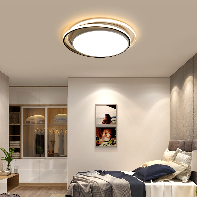 Omicron Simple Led Round Head Chandeliers White Black Round Iron Lamp For Living Room Bedroom Home Light Study Room LampsOmicron Simple Led Round Head Chandeliers White Black Round Iron Lamp For Living Room Bedroom Home Light Study Room Lamps