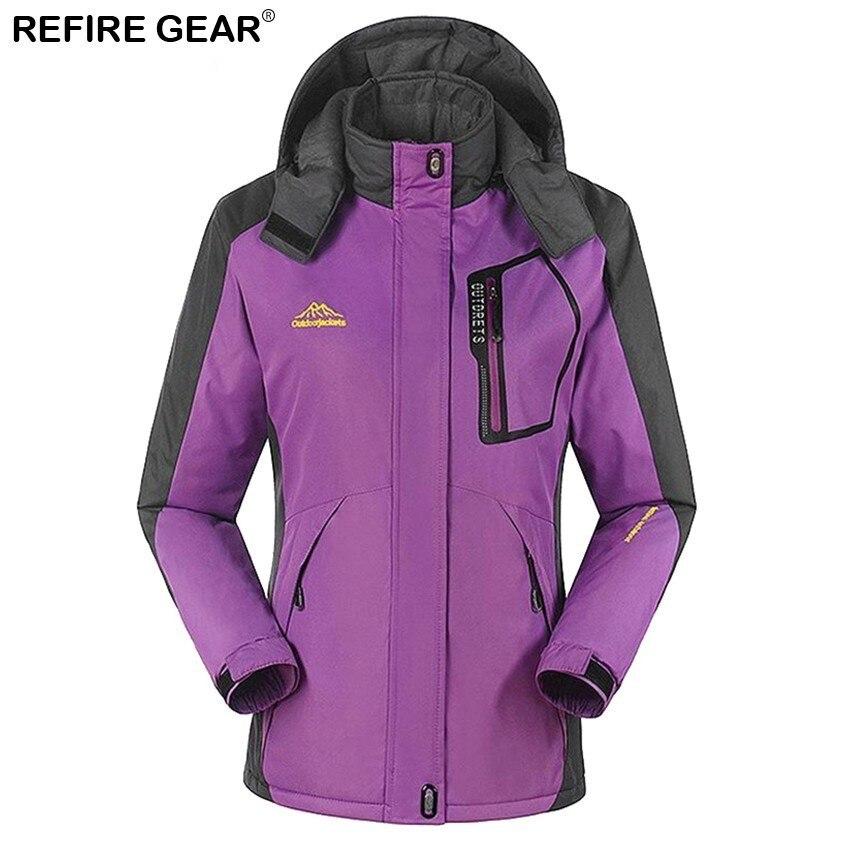 Refire Gear sports de plein air femmes hiver intérieur polaire coupe-vent veste chaude manteaux Camping Trekking randonnée Ski vestes femme