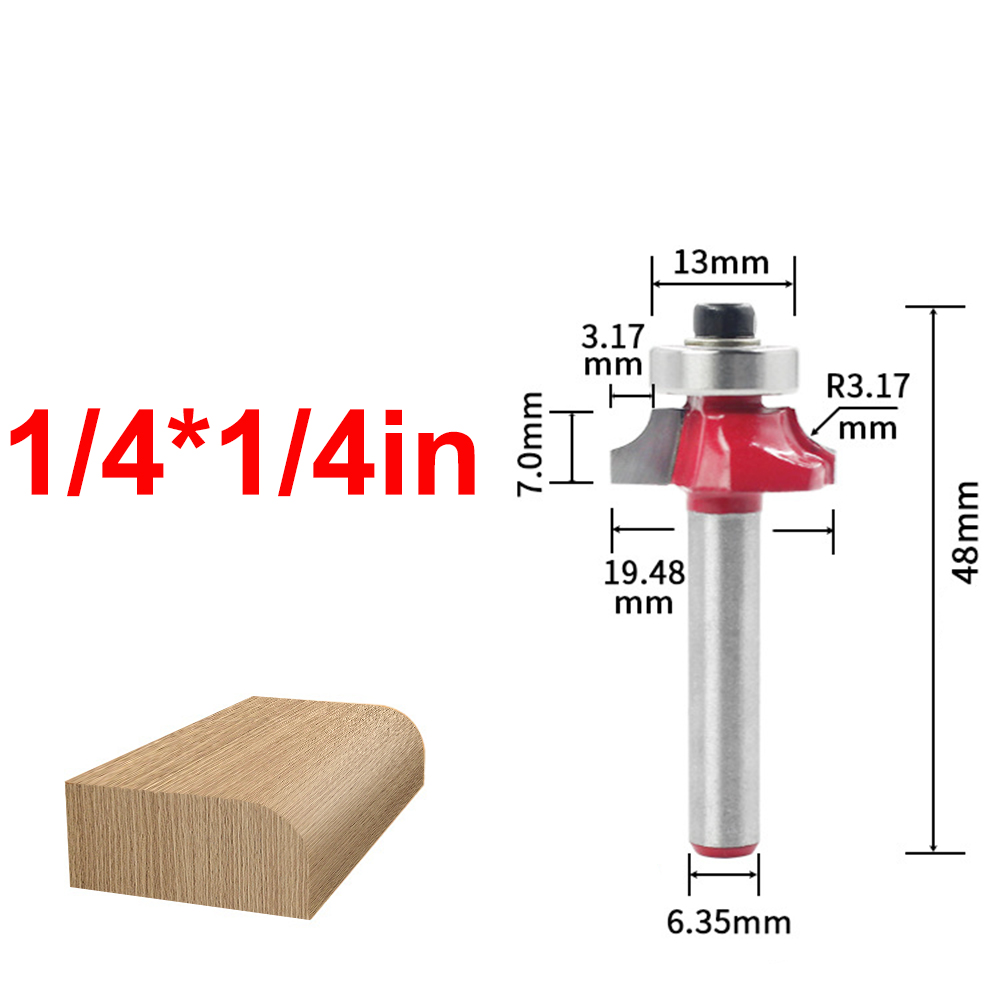 Image 2 - 1/4 inch Round Shank Carbide Router Bit Straight End Mill Trimmer Round Corner Cleaning Flush Trim Tool Milling Cutter-in Milling Cutter from Tools