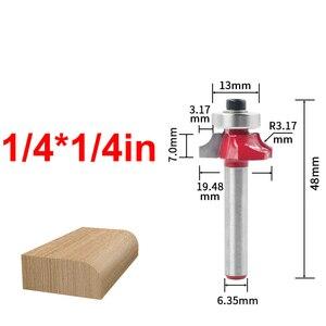 Image 2 - Fresas de madera de vástago redondo de 1/4 pulgadas, fresa escariadora recta de carburo, recortadora, limpieza de esquinas, herramienta de corte al ras