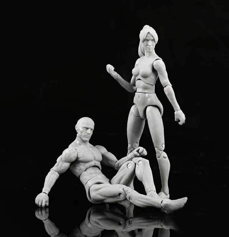 2019 New SHFiguarts BODY KUN / BODY CHAN Grey / Orange Color Ver. PVC Action Figure Collectible Model Toy Painting DIY Tool 11CM