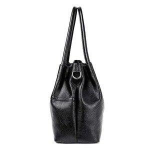 Image 2 - 2019 New Ladies Hand Bag Womens Genuine Leather Handbag Black Tote Bag Bolsas Femininas Female Shoulder Bag Leather Women