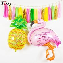 b6df25b54 1 Set Flamingo Party Pineapple Cake Toppers Paper Umbrella Drink Picks For  Birthday Decorations Hawaiian Summer