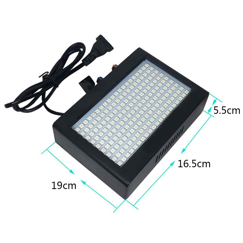 Image 3 - 180 Leds Strobe Flash Light Portable 35W Rgb Remote Sound Control Strobe Speed Adjustable For Stage Disco Bar Party Club(Eu Pl-in Stage Lighting Effect from Lights & Lighting on