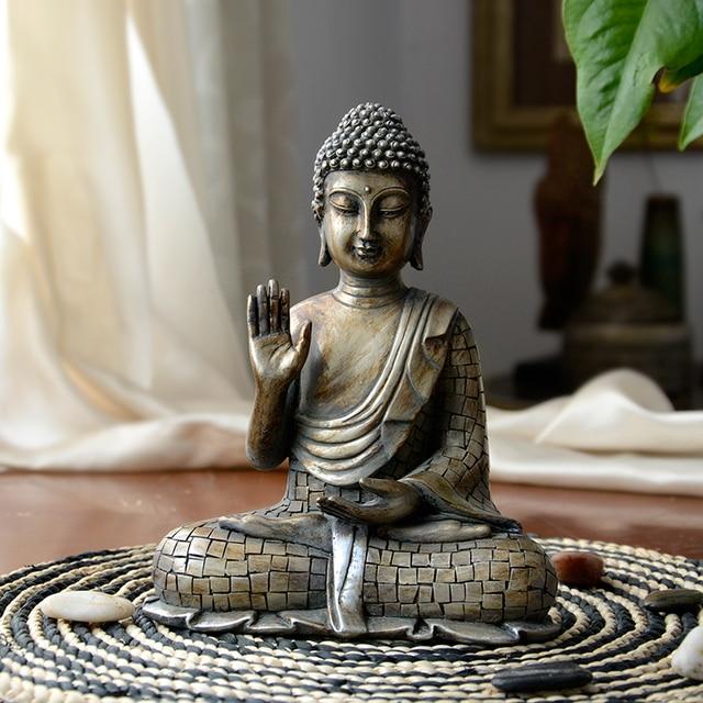 Buddha statues Thailand Buddha statue sculpture home decor office desk ornament vintage gift figurine Hindu siting Buddha 1