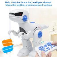 Robot Dinosaur Intelligent RC Tyrannosaurus Model With Music Light Walking Programming Teaching Function Electric Dinosaur Toy