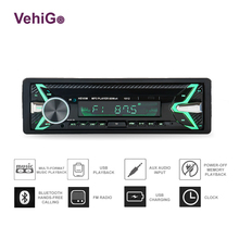 VehiGo 1 Din Bluetooth Car Radio MP3 Player Single USB/SD/TF Stereo 1din Autoestereo