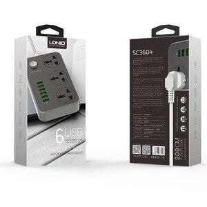 Image 4 - Tira de alimentación de plomo de extensión USB, 6 cargador de enchufe múltiple, toma de 3 vías, zócalo de salida de tiras de tablero estándar británico,