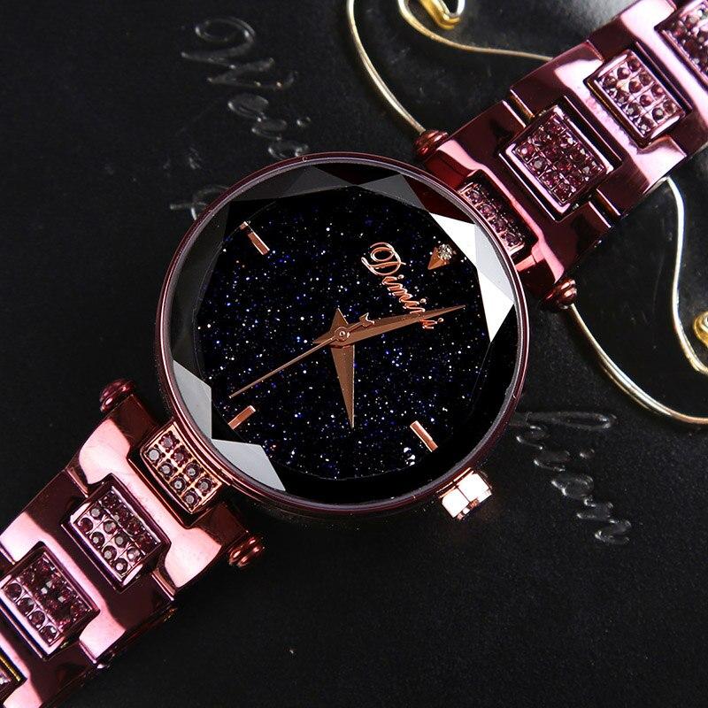 Mode marque de luxe montre femmes dames montre étanche Flash étoile ciel cadran cadeaux montres pour femmes horloge
