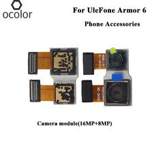Ocolor dla osłona UleFone 6 moduł kamery (16MP + 8MP) montaż naprawa części osłona UleFone 6 moduł kamery akcesoria do telefonu tanie tanio For UleFone Armor 6 Other Camera module 16MP 8MP Camera module For UleFone Armor 6 1-2 working Date For UleFone Armor 6