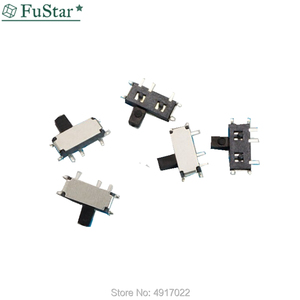 50Pcs Mini 7-Pin On/Off 1P2T SPDT MSK-12C02 SMD Toggle Slide Switch For MP3 MP4 Black handle 7Pin Micro Switch patch New