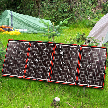 Dokio 200W (50W*4) Solar Panel 12V/18V Flexible Foldble Solar Panel usb Portable Solar Cell Kit For Boats/Out-door Camping 50w new design hot selling factory price 50 watt solar panel for solar system page 1
