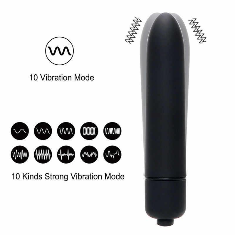 7 Warna 10 Kecepatan Mini Peluru Vibrator untuk Wanita Tahan Air Klitoris Stimulator Vibrator Seks Mainan untuk Wanita Produk Seks