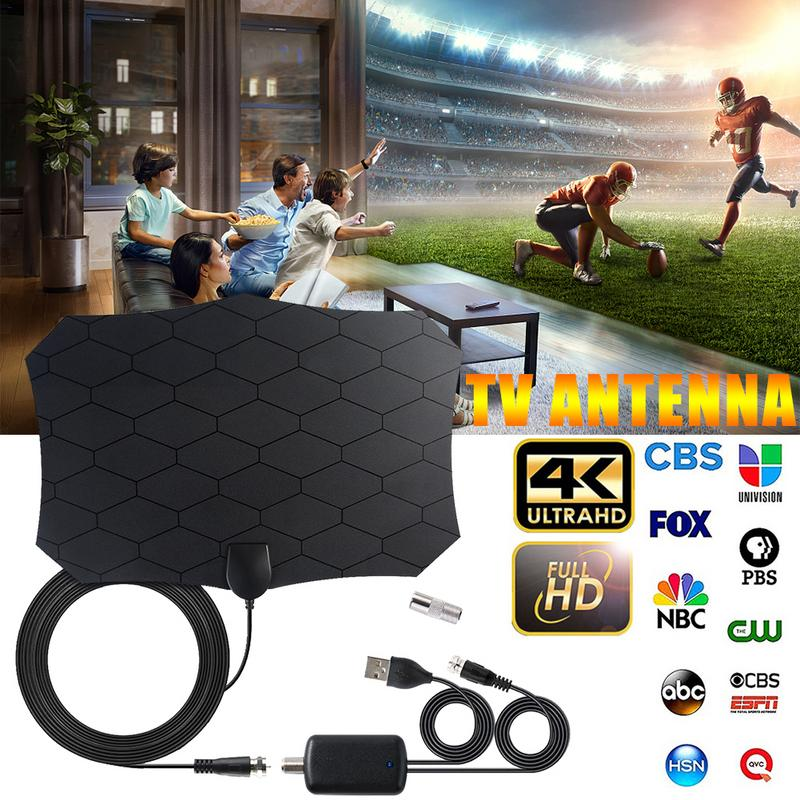 240 Miles 1080P Digital HDTV Indoor TV Antenna With Amplifier Signal Booster TV Radius Surf  Fox Antena HD Mini Antennas Aerial