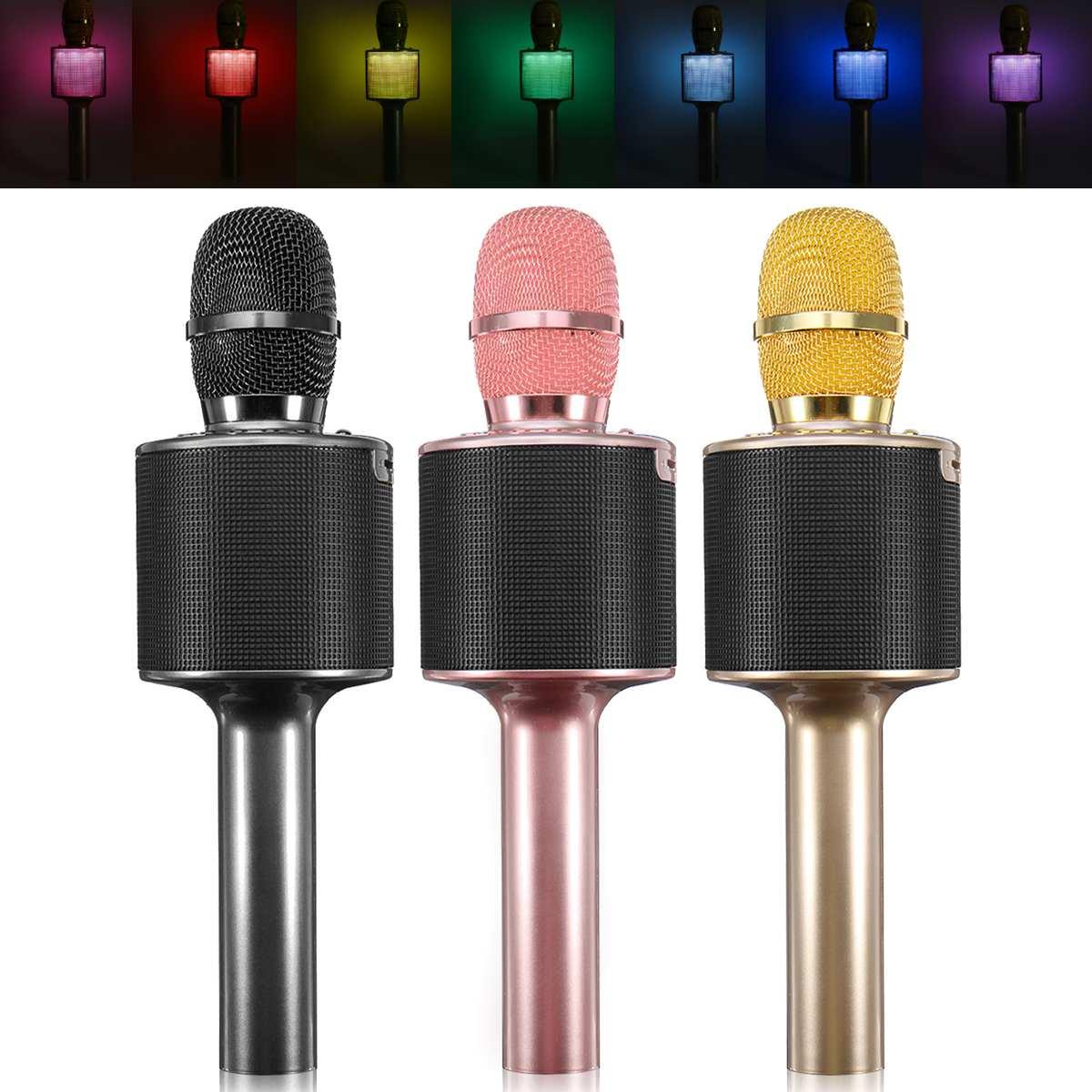 Microfono senza fili di Karaoke Mikrofon Microfono A Condensatore Speaker Bluetooth Musica Cantare Player Karaoke Microfone per Smart Phone
