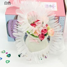4cm Dream Three Yarn Confused A Doll Bustle Lace Accessories Decoration Manual Diy Material Science Barbie Doll Accessories white pp fluffy springback cotton non woven doll purse filling material diy manual material accessories