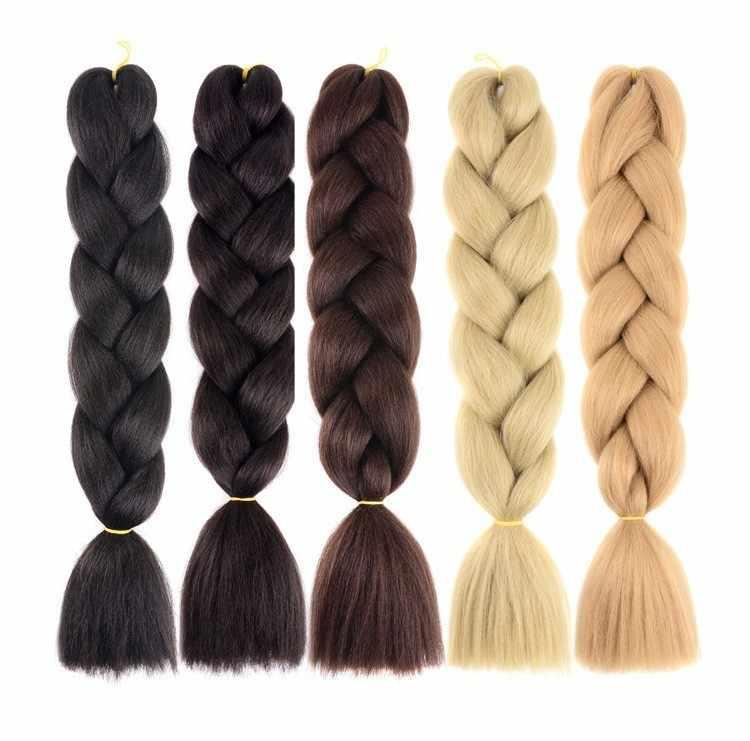 Растягивающиеся прямые Омбре плетение волосы из канекалона Pageup афро Джамбо крючком косы голубое Экспрессия синтетические волосы для наращивания