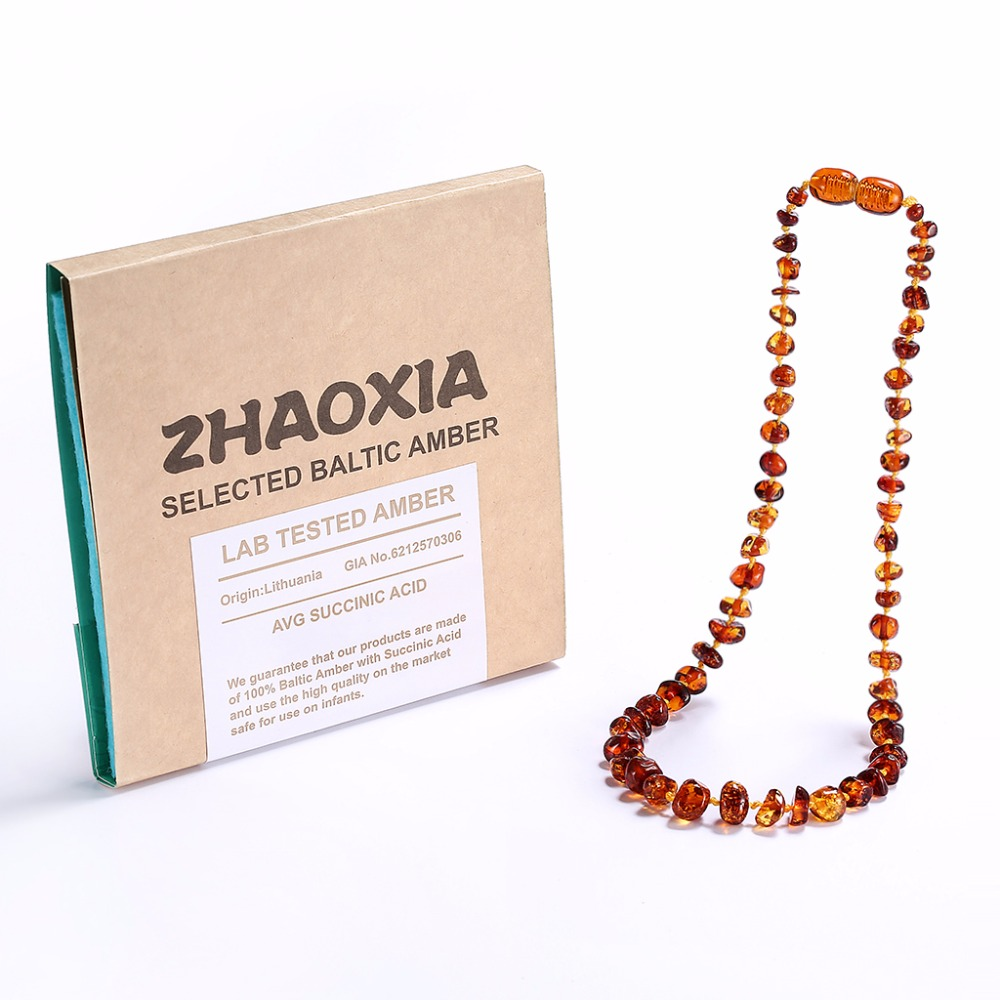 Baltic Amber Teething Necklace Bracelet for Baby Gift Box 5 Sizes 4 Colors Ship from US Innrech Market.com