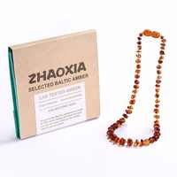 Baltic Amber Teething Necklace/Bracelet for Baby - Gift Box - 5 Sizes - 4 Colors - Ship from US&UK&AU&CN