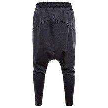 Harem Pants Men Hip Hop Casual Joggers elastic waist cotton Sweatpants Male Streetwear Midweight Trousers ropa de hombre 2019