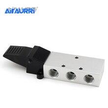 цена на G 1/4 Air Pneumatic Foot Pedal Manual Valve 2 Position 3 Way K23R7-8 K25R7-8 -15