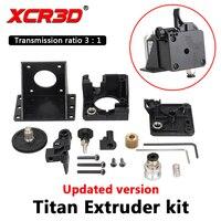 XCR3D Titan экструдер 3D-принтеры Запчасти для E3D V6 Hotend j-руководителя Боуден Монтажный кронштейн 1,75 мм нити 3:1 коэффициент передачи