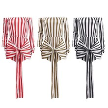 2019 Women Casual Stripe Playsuit Jumpsuit Beach Summer Holiday Shorts Romper Mini Sundress Outfits New