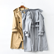 TITOTATO Spring Autumn Korean Fashion Double Breasted Women Casual Loose Trench Belt Solid Long Coat Plus Size Female Outerwear 2018 spring new women fashion trench coat female loose cardigan stitching printing long sleeved single breasted outerwear cx88
