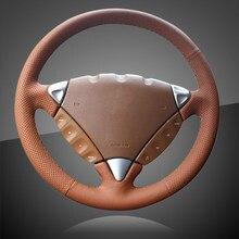 Ручной швейный чехол рулевого колеса автомобиля для Porsche Cayenne 2007-2010 Авто оплетка на руль крышка аксессуары для интерьера