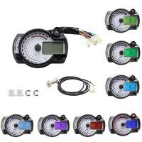 Adjustable Motorcycle Digital Speedometer LCD Gauge Odometer Instrument 299 MPH/KPH NMAX 7 color display oil level meter