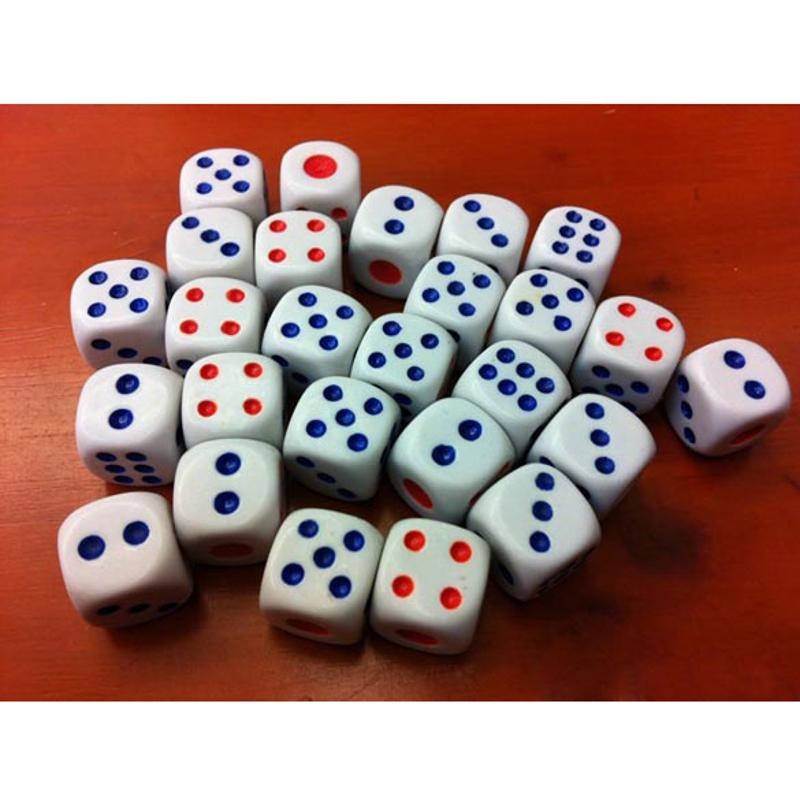 10Pcs 10mm Acrylic White Round Corner Dice Clear Drinking Dice Portable Table Playing Game