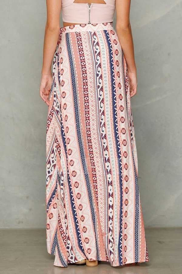 2019 חדש קיץ נשים גבירותיי גבוהה מותן פרחוני הדפסת סדק ארוך חצאית חוף חצאיות Multicolors חם