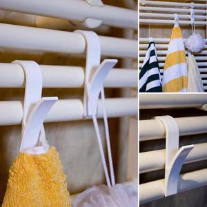 Image 4 - 6 adet ev mutfak duş kapısı havlu kancası plastik havlu askısı depolama organizatör