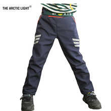 THE ARCTIC LIGHT Ski Hiking Pants Camping Boy Girl Reflective Stripe Waterproof Breathable Soft Shell Thick Trousers