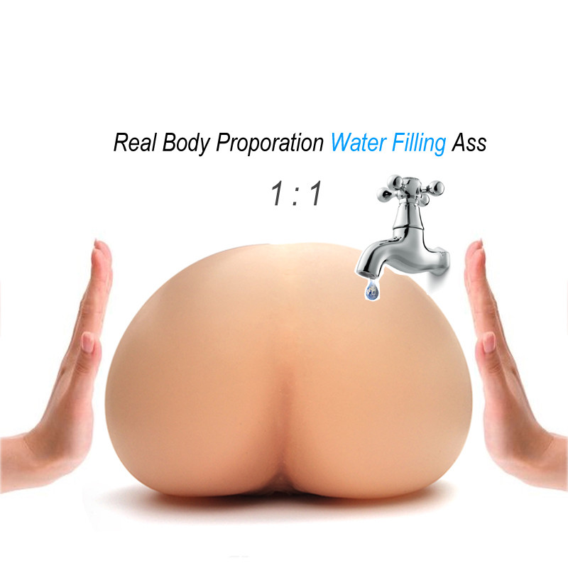 Solo Flesh Water Injected Air Inflation Artificial Vagina Real Pussy Pocket Pussy Male Masturbator For Man Male Sex Toy For Men